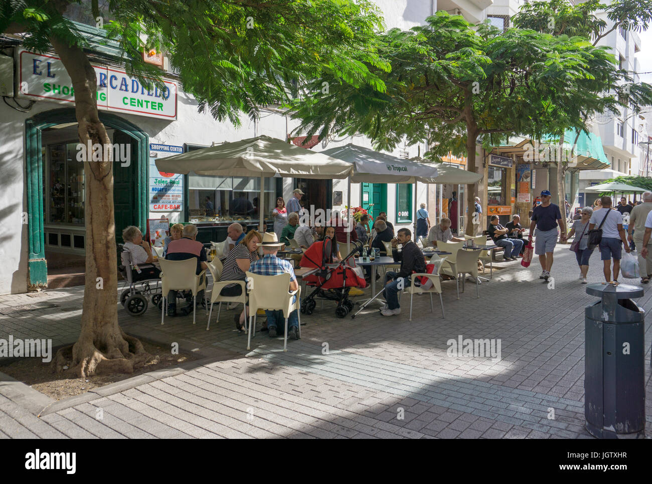 Gastronomy at the center of Arrecife, Lanzarote island, Canary islands, Spain, Europe - Stock Image