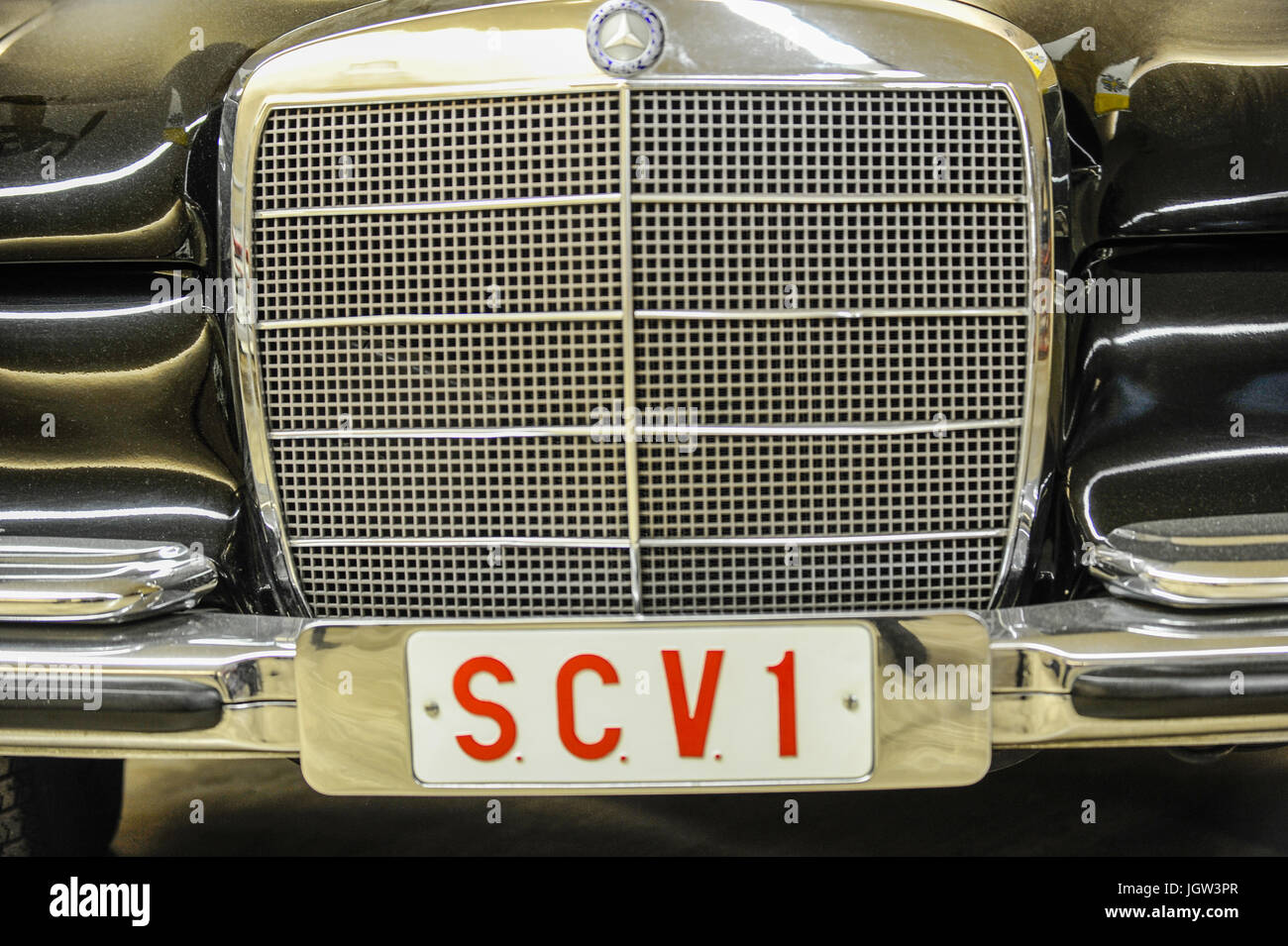 Carriage Museum and cars of popes. The Vatican, Rome, Italy Stock ...