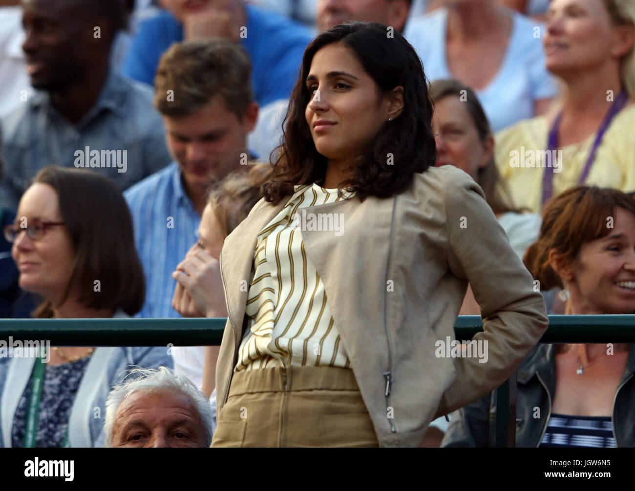 Rafael Nadal S Girlfriend Xisca Perello Watches Him In Action Against Stock Photo Alamy