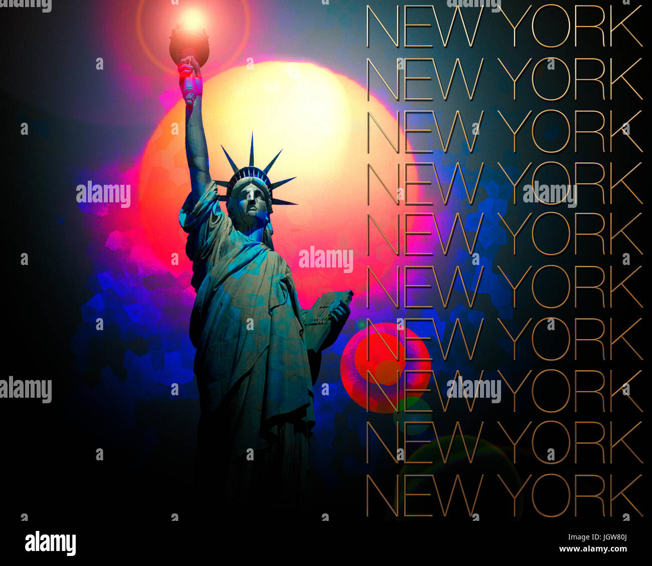 TRAVEL DESIGN: New York - Stock Image