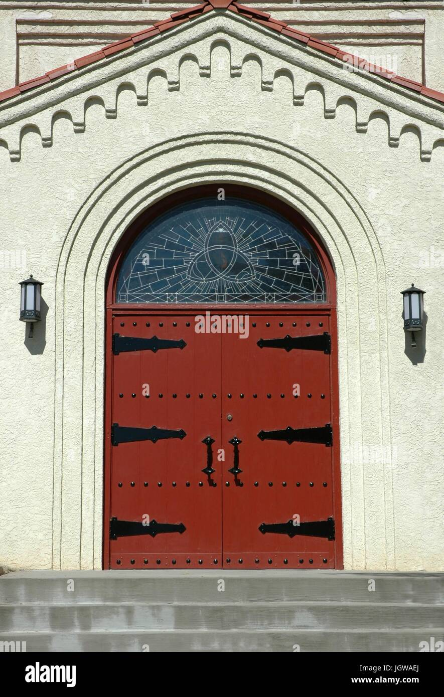 Church door - Stock Image