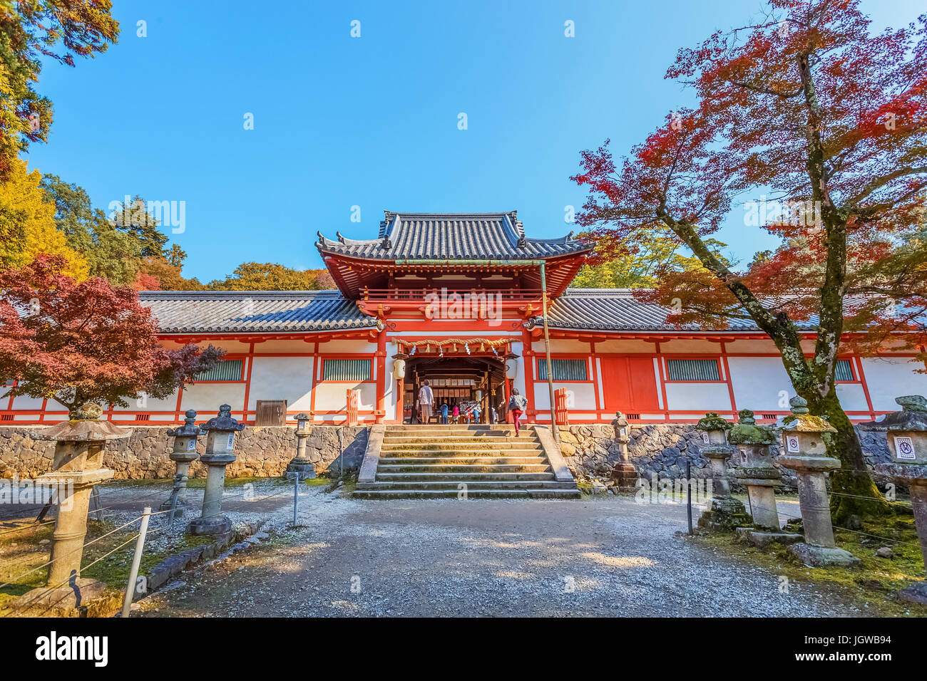Tamukeyama Hachimangu in Nara, Japan - Stock Image