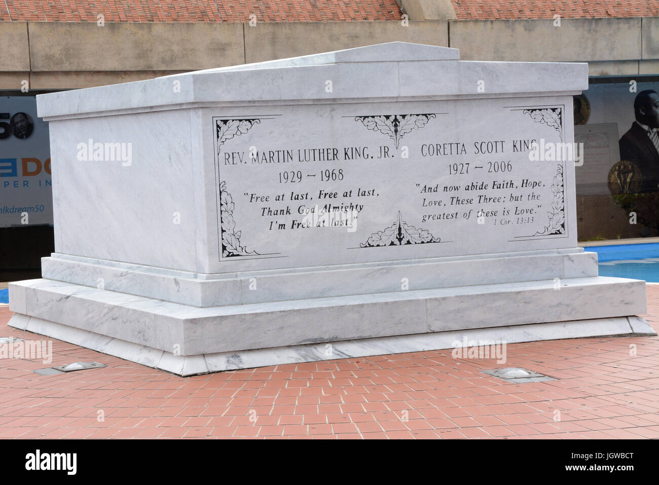 Tomb of Dr. Martin Luther King Jr. and Coretta Scott King Atlanta,GA - Stock Image
