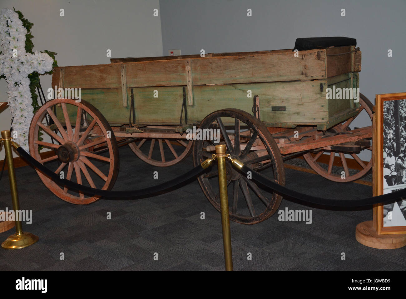Martin Luther King's funeral carriage - Stock Image