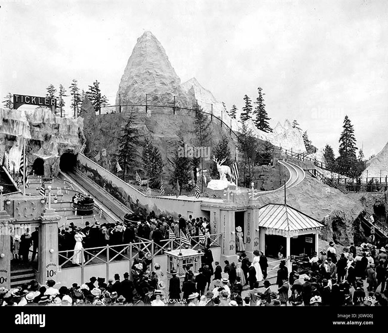 Alaska-Yukon-Pacific Exposition in Seattle, 1909 - Fairy Gorge Stock