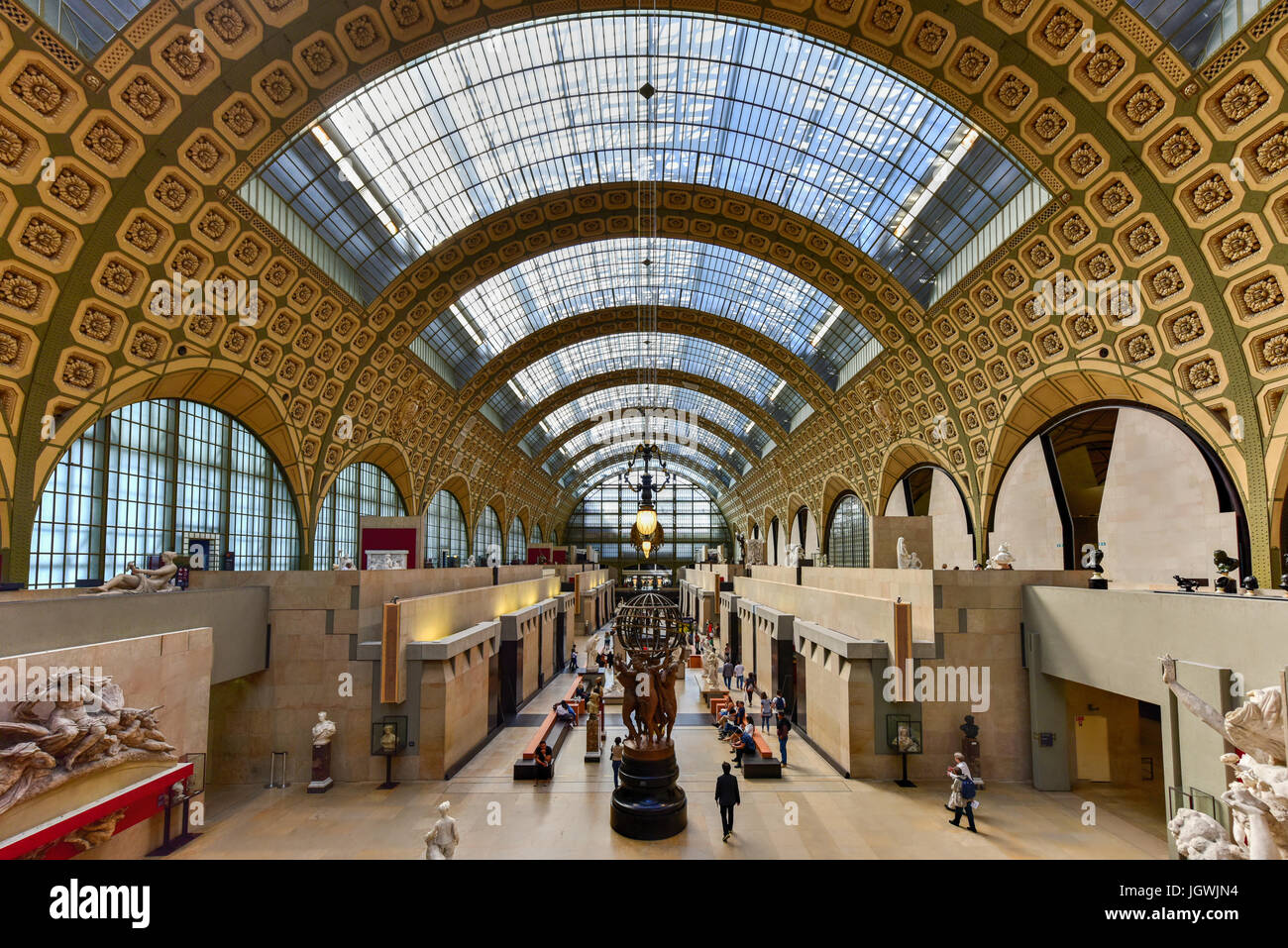 Paris, France - May 16, 2017: TheMusee d'Orsay, a museum in Paris, France. It is housed in the formerGare - Stock Image