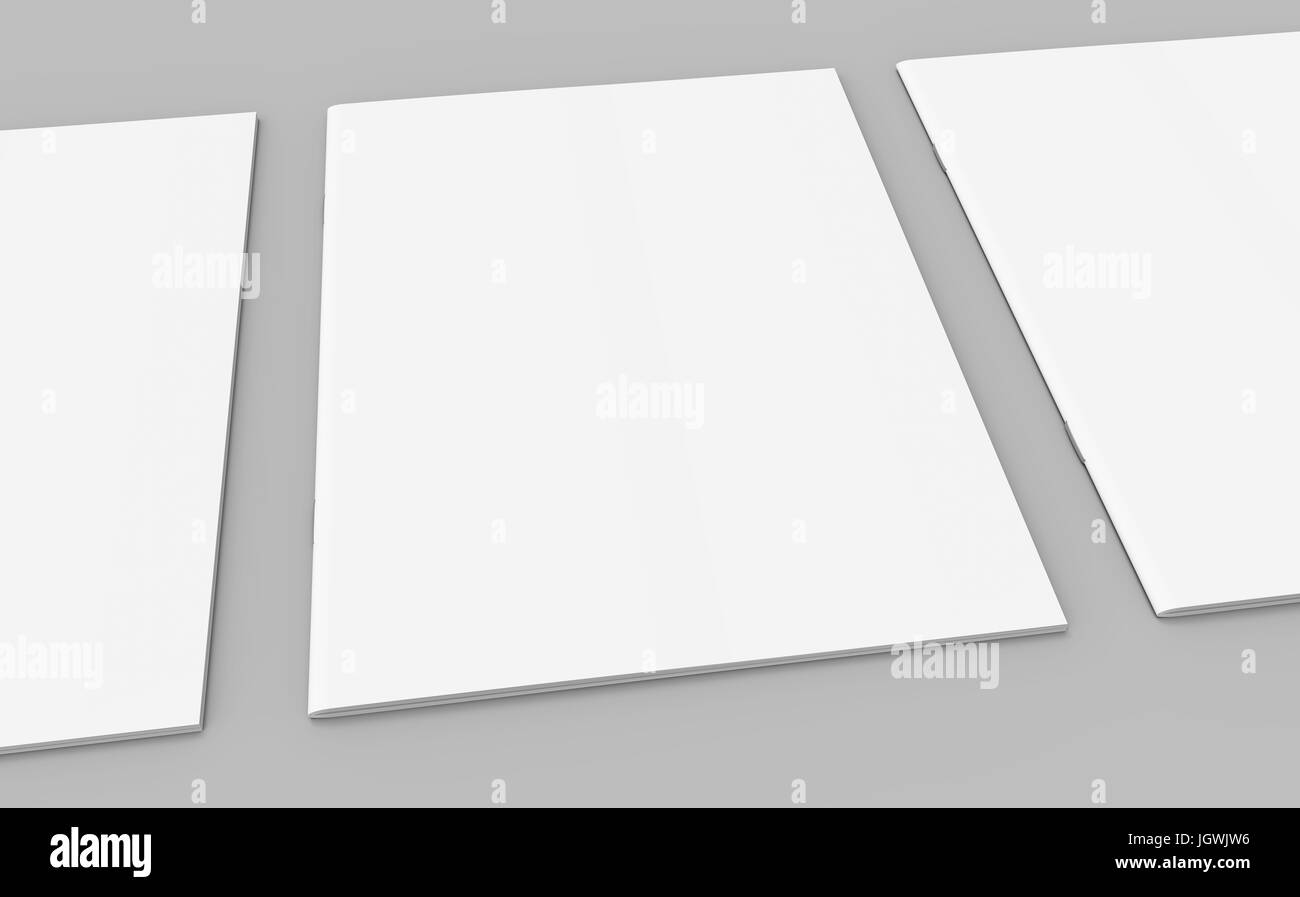 Blank Magazine Or Booklet Template Mockup For Design Uses In 3d