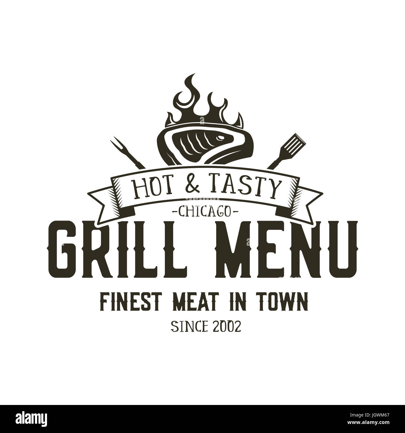 grill menu emblem template steak house restaurant logo Cow Silhouette SVG cow silhouette vector free download