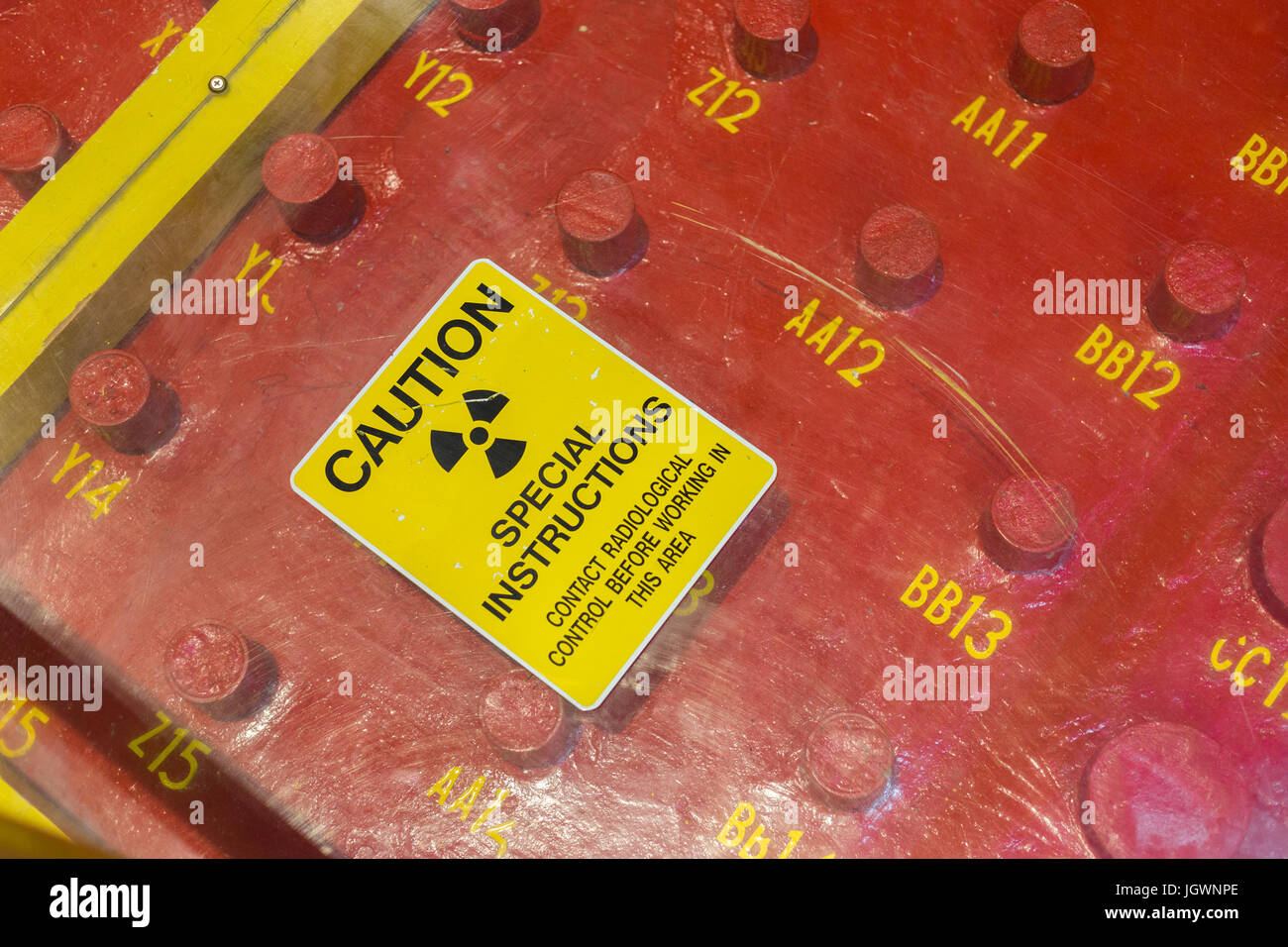 Detail of the rod farm in EBR-1 (Experimental Breeder Reactor 1), close to Arco, Idaho - Stock Image