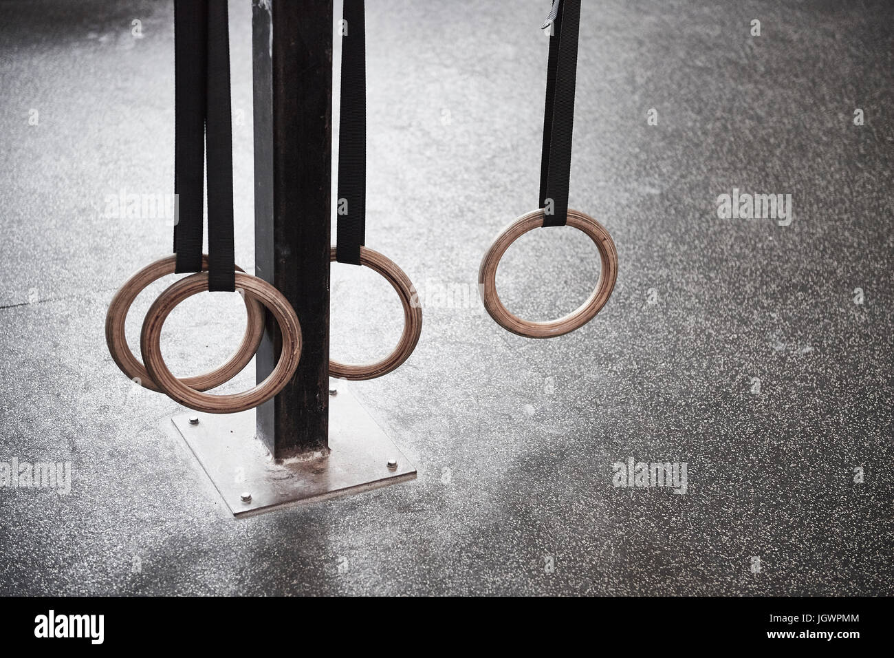 Gymnastic rings - Stock Image