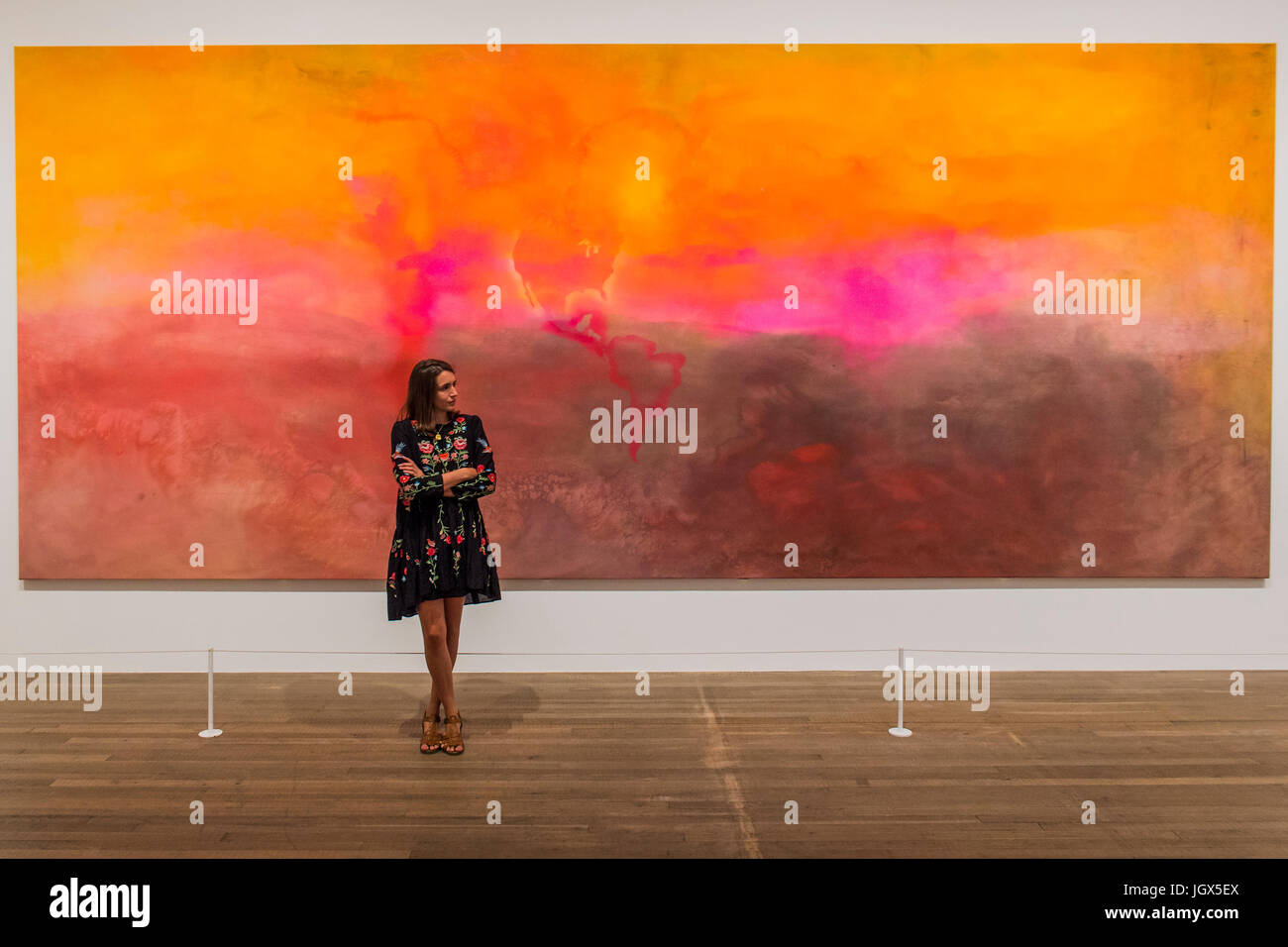 London, UK. 11th Jul, 2017. Texas Louise 1971 by Frank Bowling - Soul of a Nation: Art in the Age of Black Power, - Stock Image