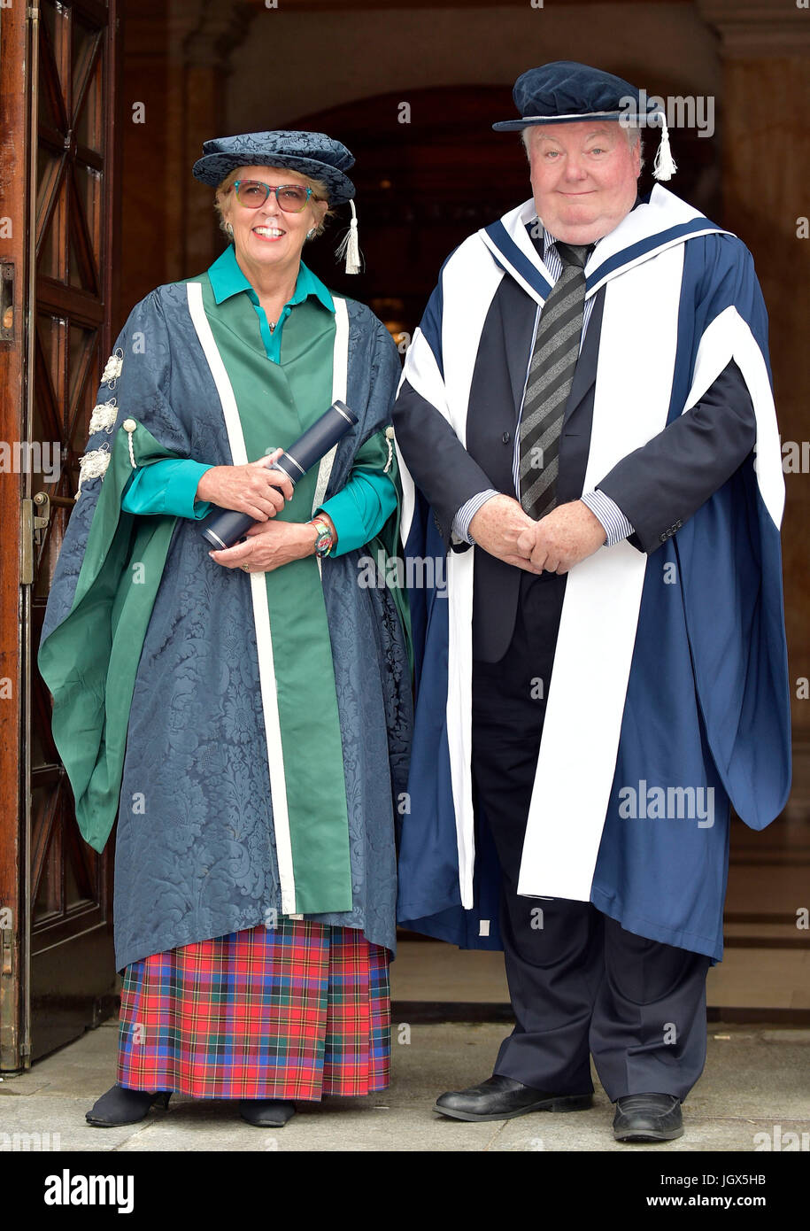 Edinburgh, UK. 11th Jul, 2017. Bake-Off judge installed as university chancellor and Hollywood film producer awarded - Stock Image
