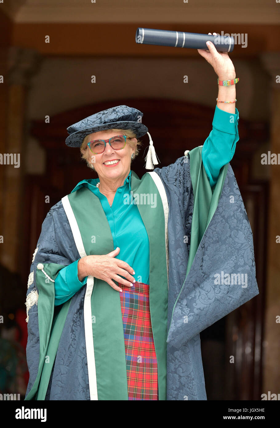 Edinburgh, UK. 11th Jul, 2017. Bake-Off judge installed as university chancellor and Hollywood film producer awarded - Stock Image