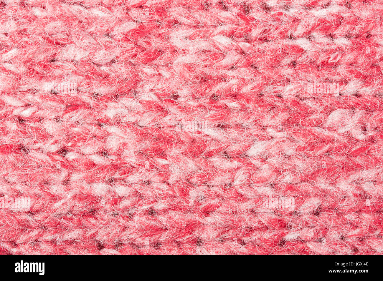 Red and white knitting fabric texture background or knitted pattern ...