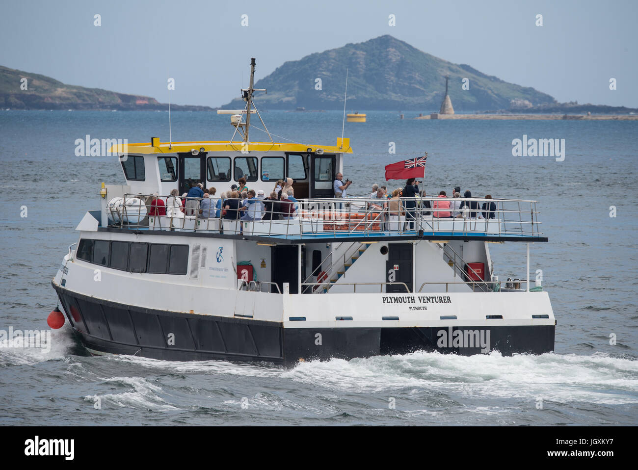 Plymouth Venturer  - Boat tours along the River Tamar and Plymouth Sound, Devon, UK - Pic by Paul Slater/PSI Ltd - Stock Image