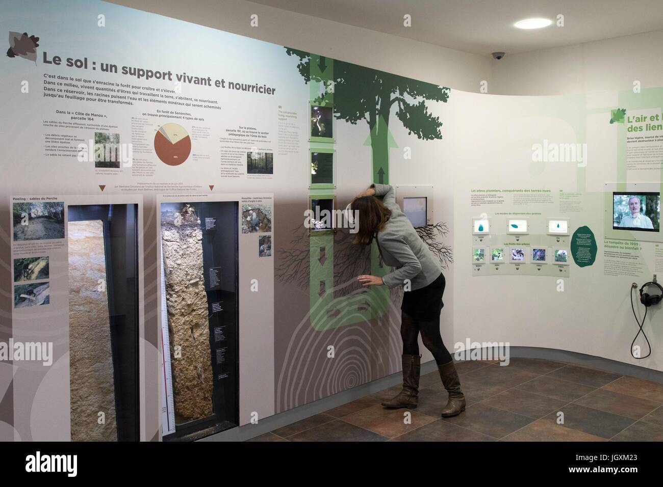 INTERPRETATION CENTER OF THE FOREST AND MAN,SENONCHES - Stock Image