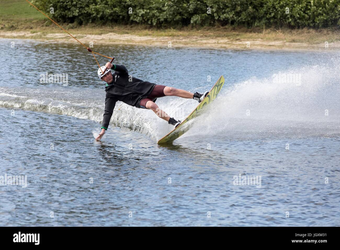 WAKEBOARD,FONTAINE-SIMON,FRANCE - Stock Image