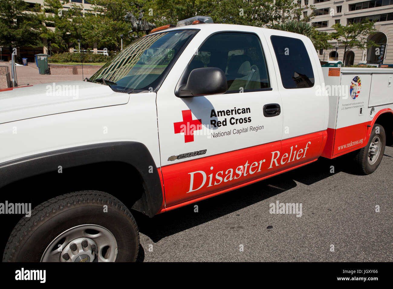 American Red Cross Disaster Relief vehicle - USA - Stock Image