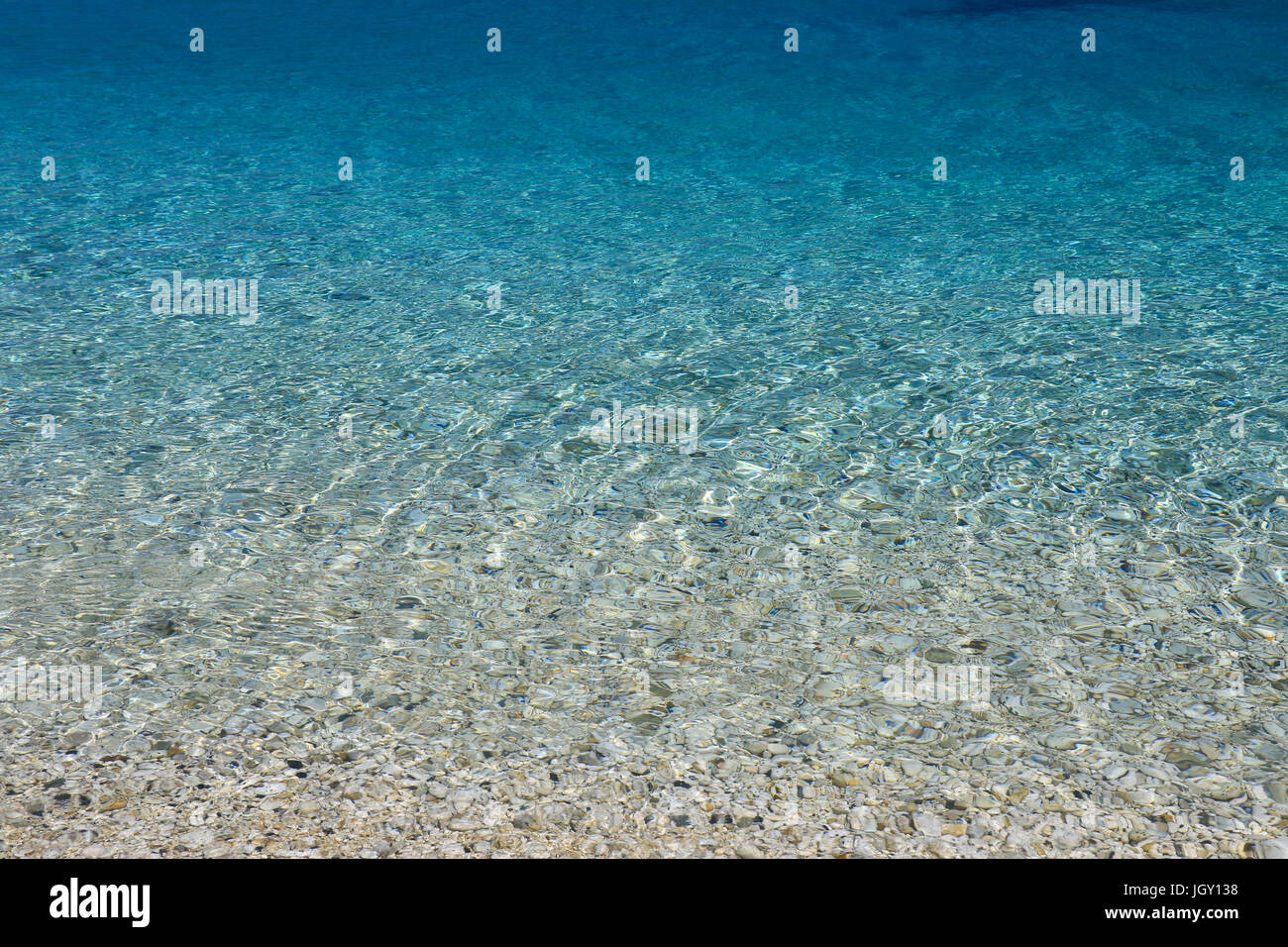 blue Sea water background - Stock Image