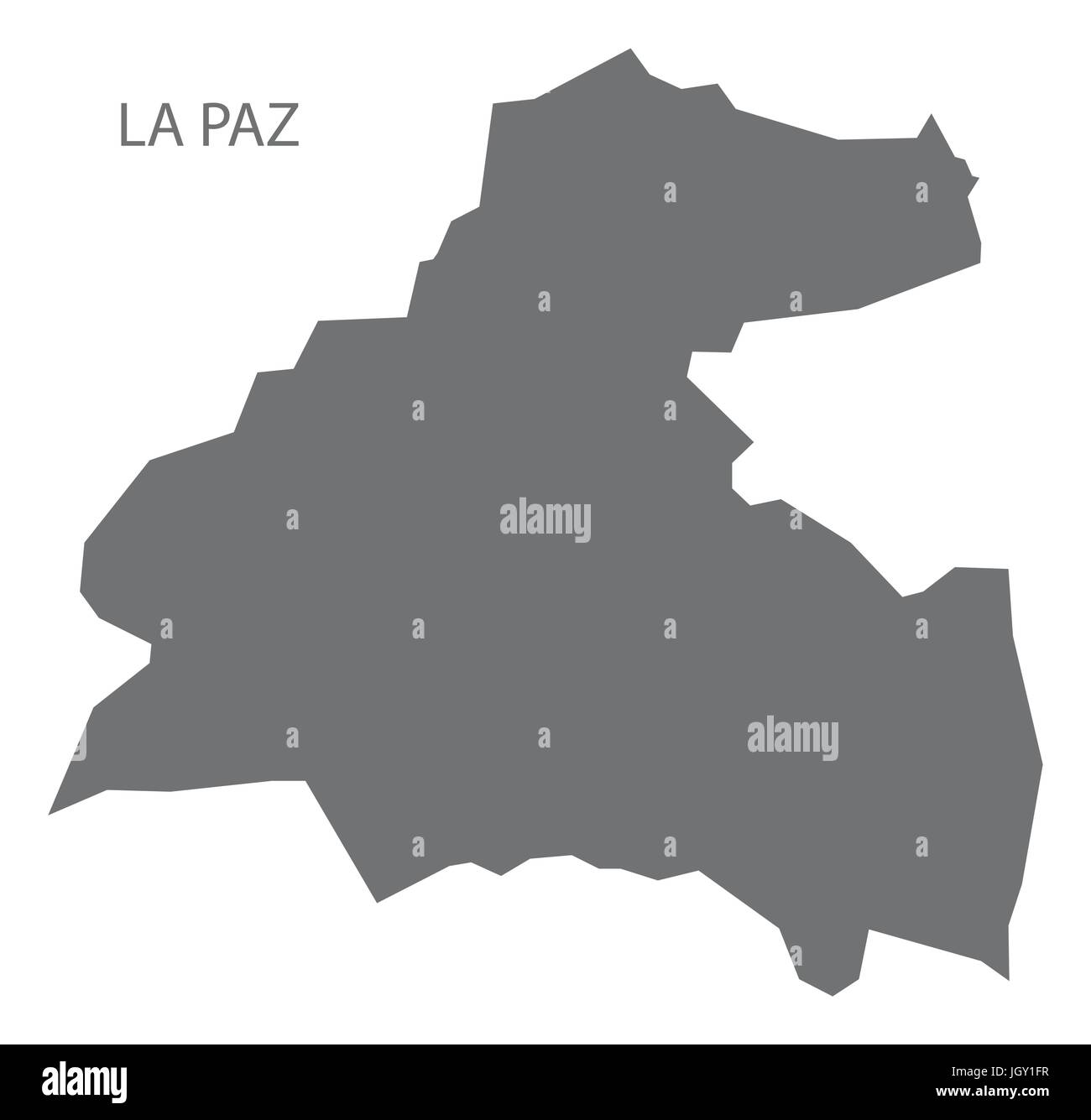 La Paz Honduras Map La Paz Honduras map grey illustration silhouette Stock Vector Art