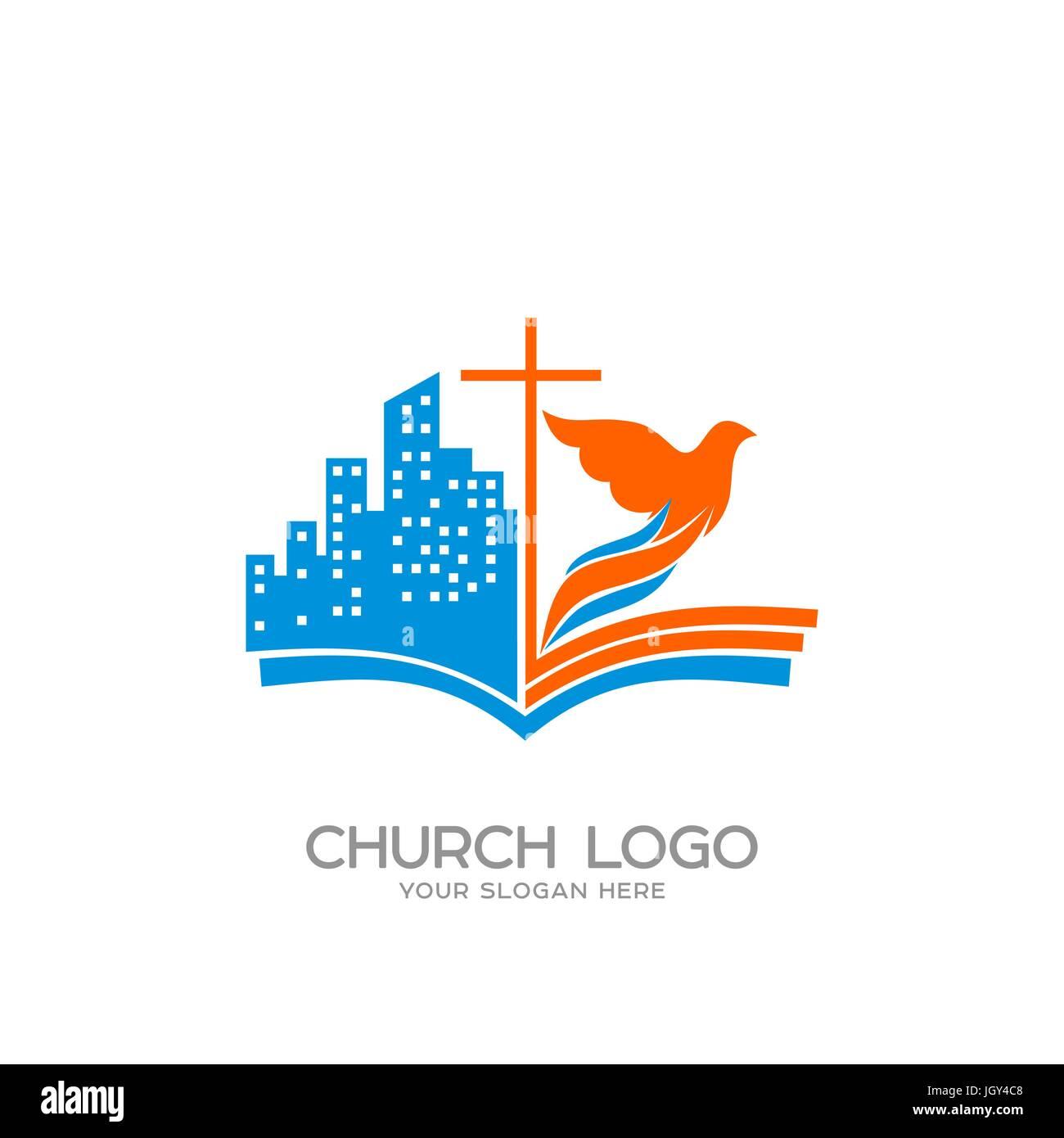 Church logo christian symbols the open bible the cross of jesus church logo christian symbols the open bible the cross of jesus the city and the dove thecheapjerseys Gallery