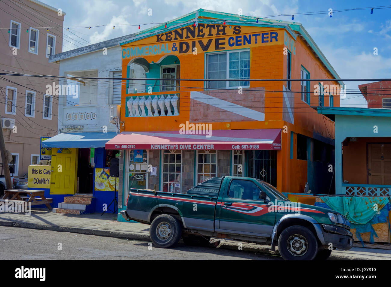 Kenneths Dive Centre, St Kitts, Caribbean, West Indies - Stock Image