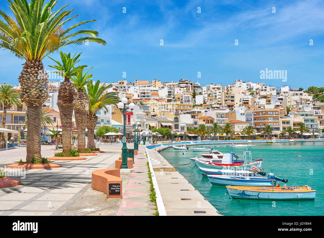 Harbor in Sitia, Crete Island, Greece - Stock Image