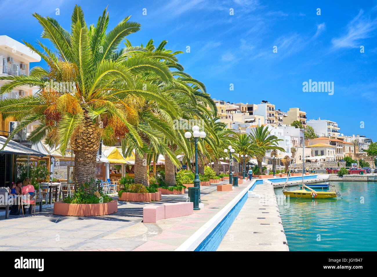 Promenade in Sitia, Crete Island, Greece - Stock Image