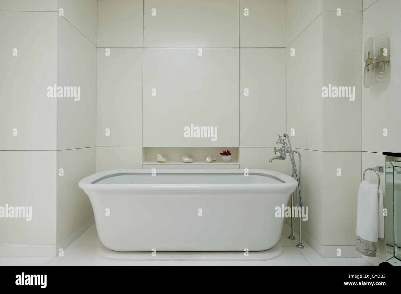 White bathroom - Stock Image