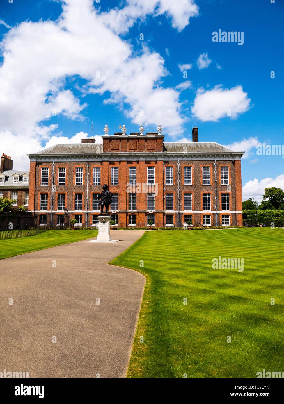 Kensington Palace, Kensington Gardens, London, England - Stock Image