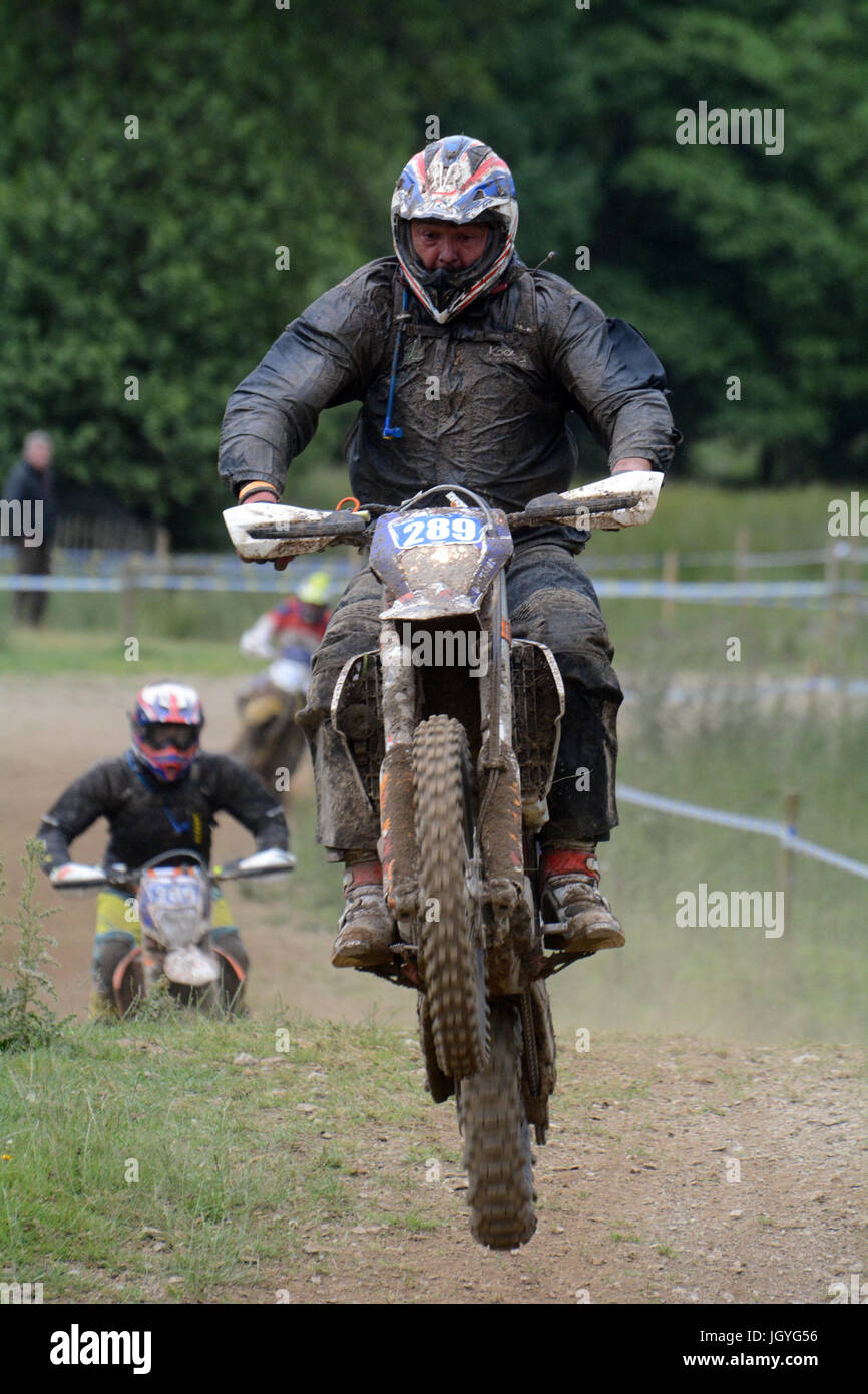 Denver Rollings of Coleford competing in the Welsh 2 Day Enduro in Llandrindod Wells - Stock Image
