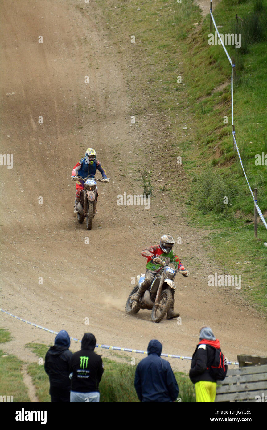 Action from the Welsh 2 Day Enduro at Llandrindod Wells - Stock Image