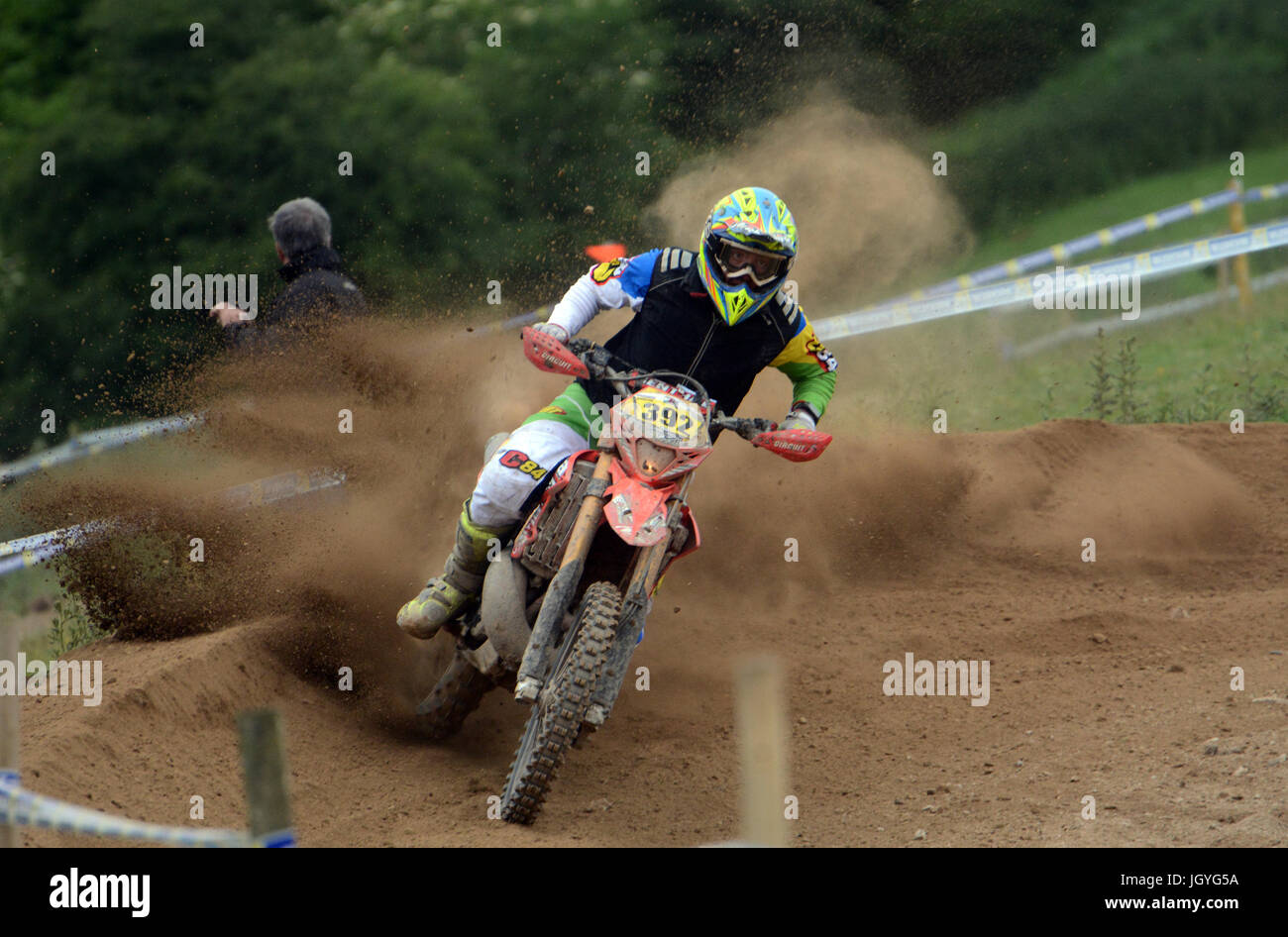 Ian Lord of Ferndale taking part in the Welsh 2 Day Enduro in Llandrindod Wells Stock Photo