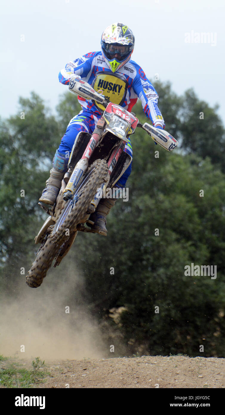 Daryl Bolter competing in the Welsh 2 Day Enduro in Llandrindod Wells - Stock Image