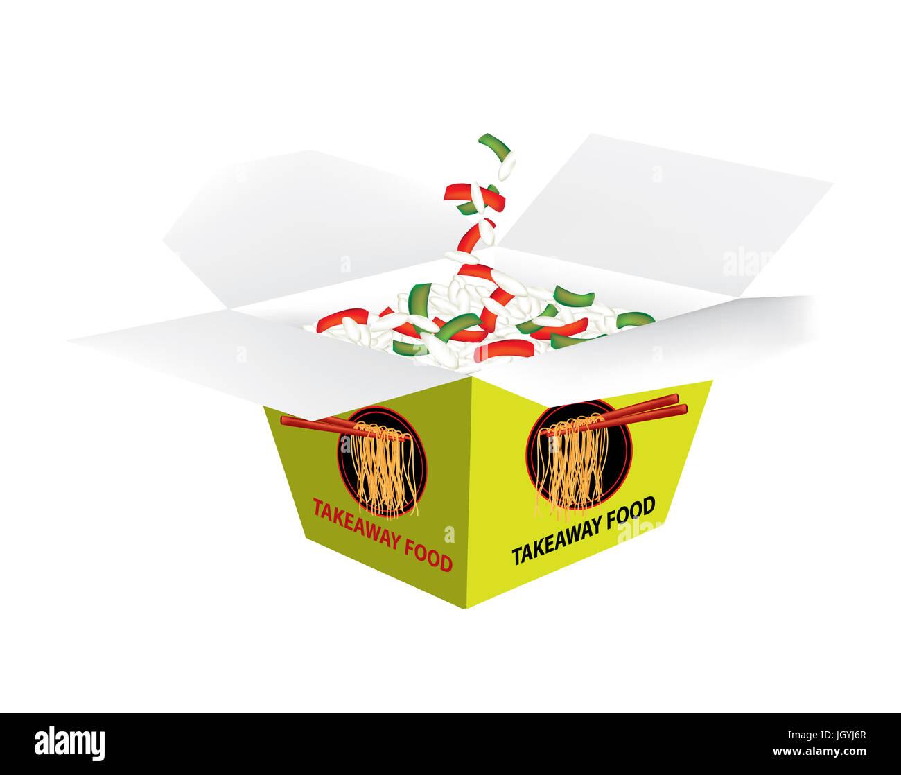 Takeaway box - Stock Image