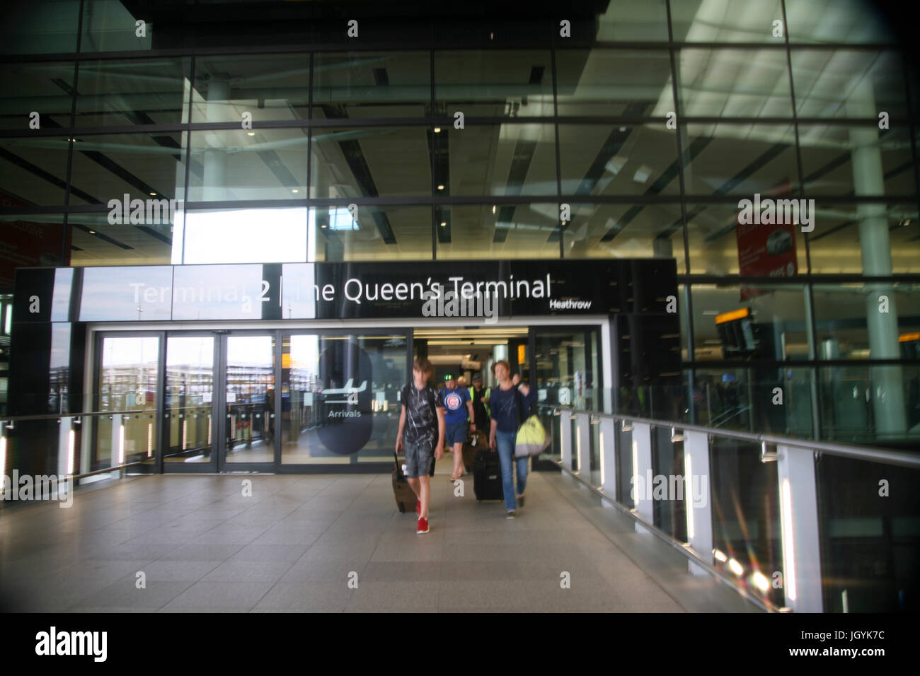 England, London, West, Heathrow Airport, New Terminal 2. - Stock Image
