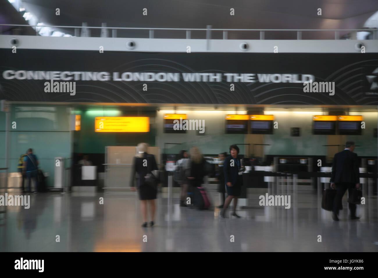 England, London, West,  Heathrow Airport, New Terminal 2, interior. - Stock Image