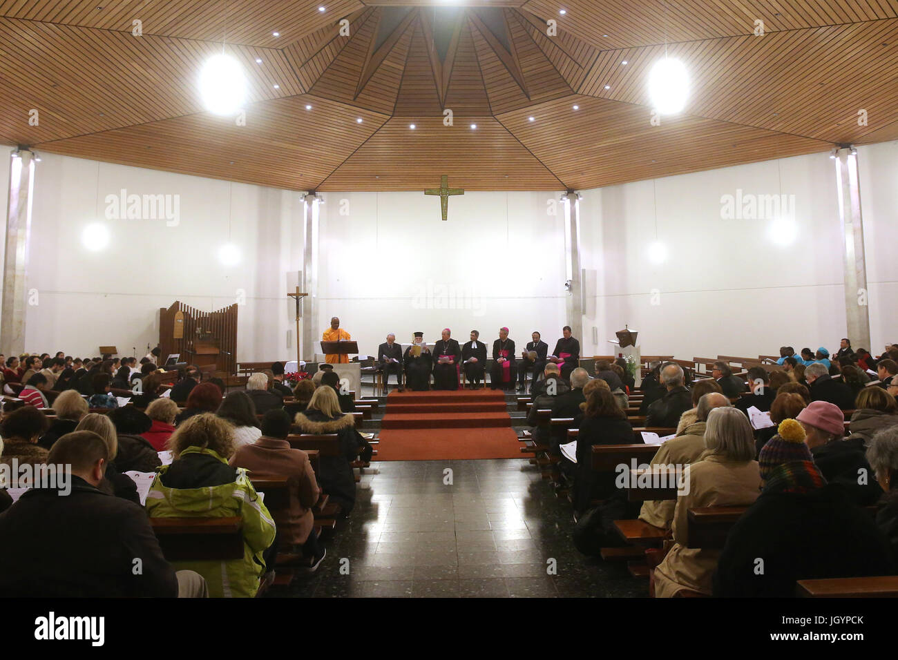 Fiftieth World Day of Peace. Interfaith celebration.  Geneva. Switzerland. - Stock Image