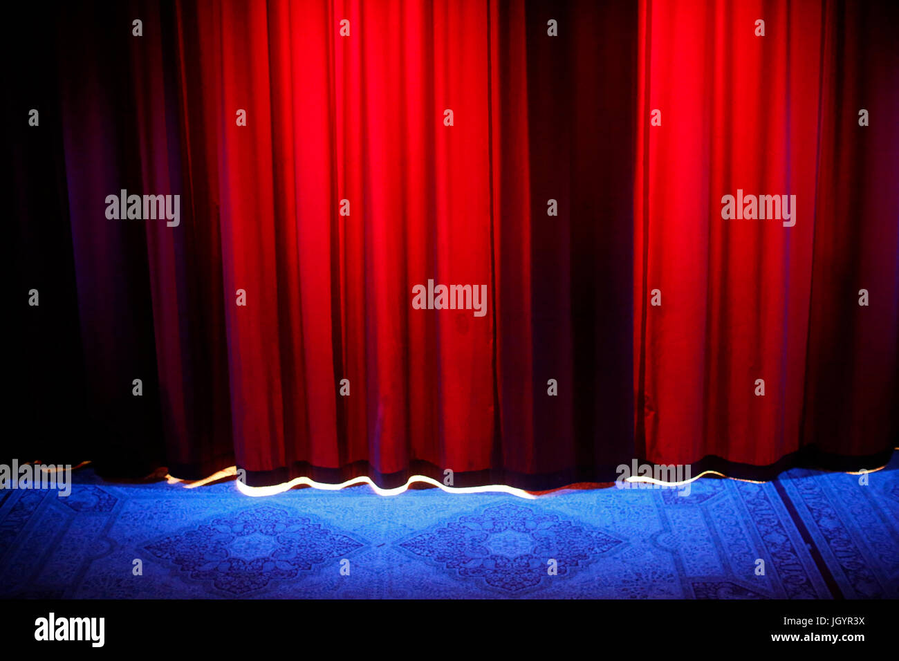 Stage curtain. France. - Stock Image
