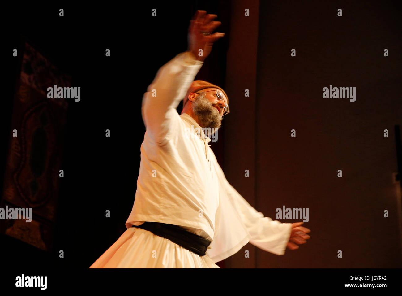 Grand Mawlid de Paris sufi celebration. Dervish Omar, Naqshbandi.  France. - Stock Image