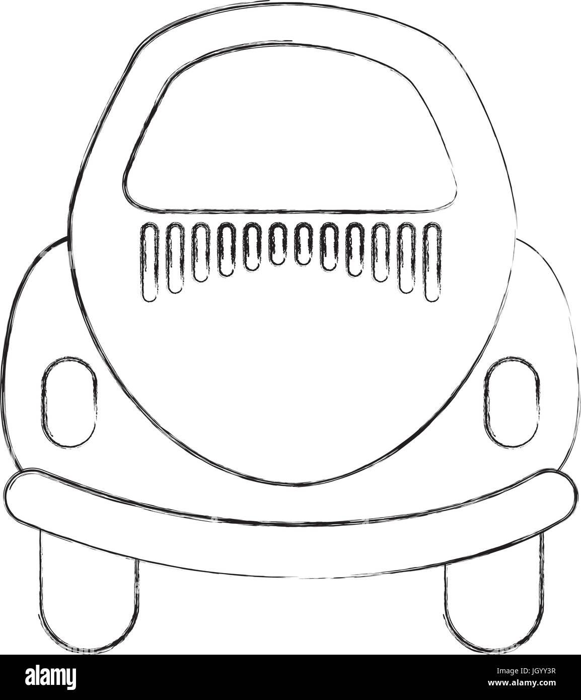 Rear of car icon - Stock Vector