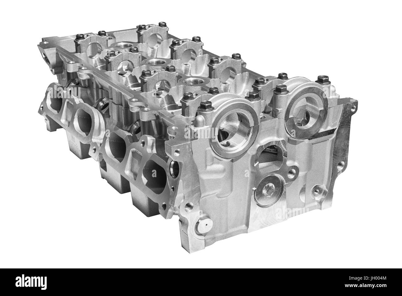 Cylinder head combustion engine - Stock Image