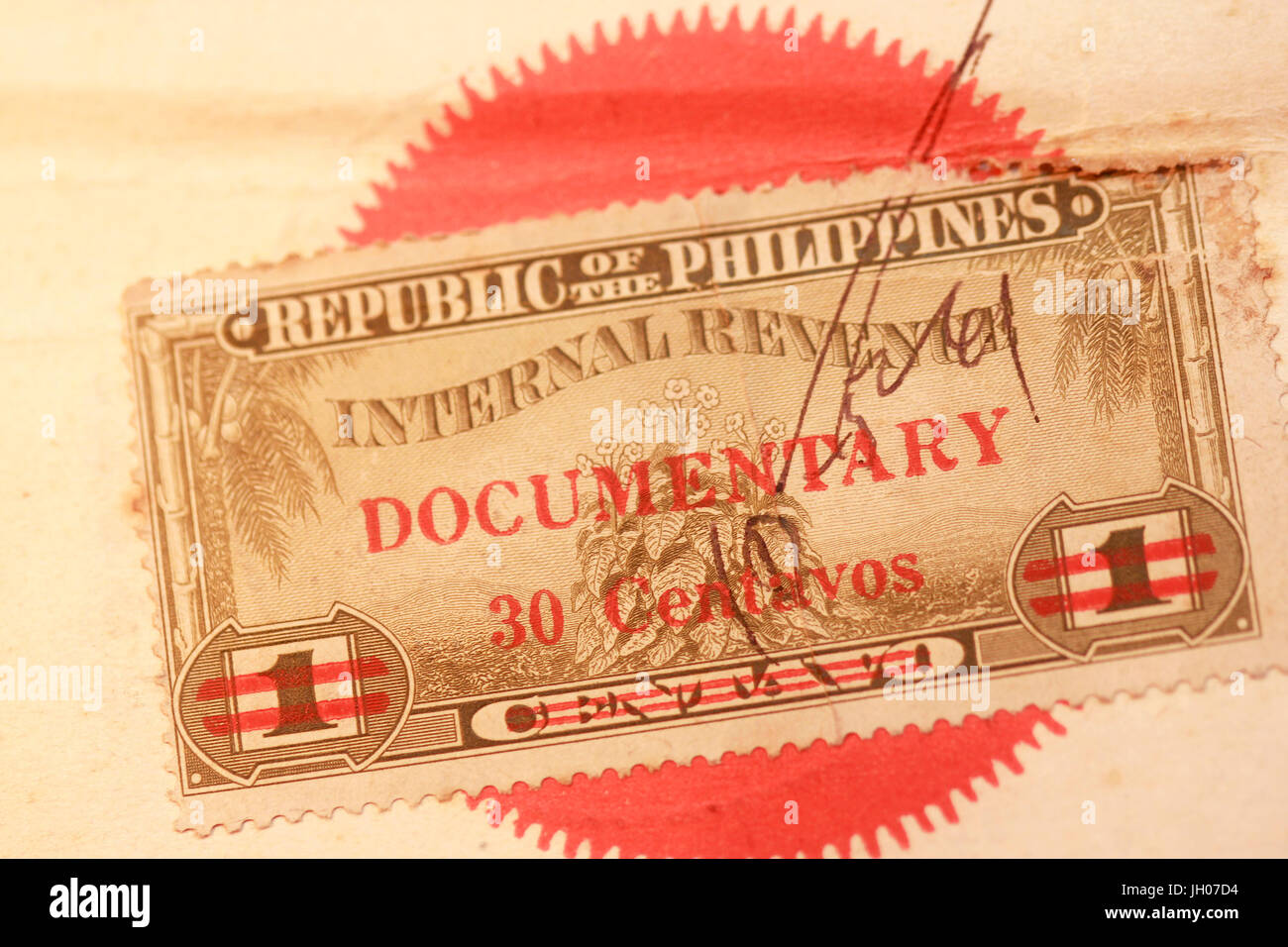 Vintage Documentary Stamp Republic Of The Philippines Internal Revenue