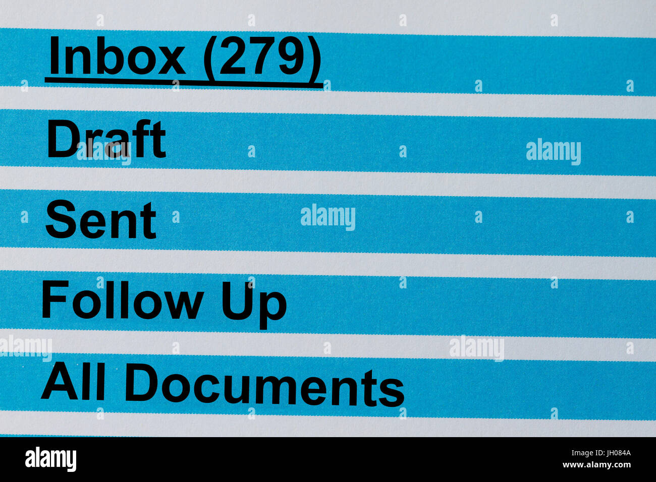 New messages on the inbox of an email. - Stock Image