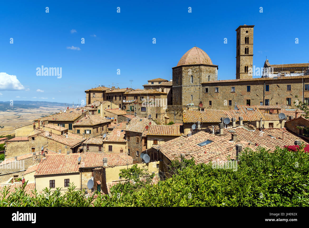 historic village of Volterra, tuscany, italy - Stock Image