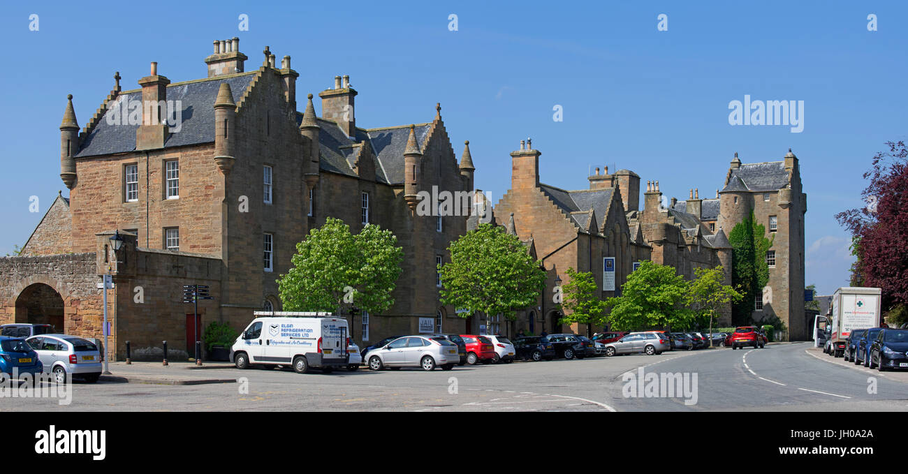 Dornoch Castle, visitor centre and jail, Sutherland, Scottish Highlands, Scotland, UK Stock Photo