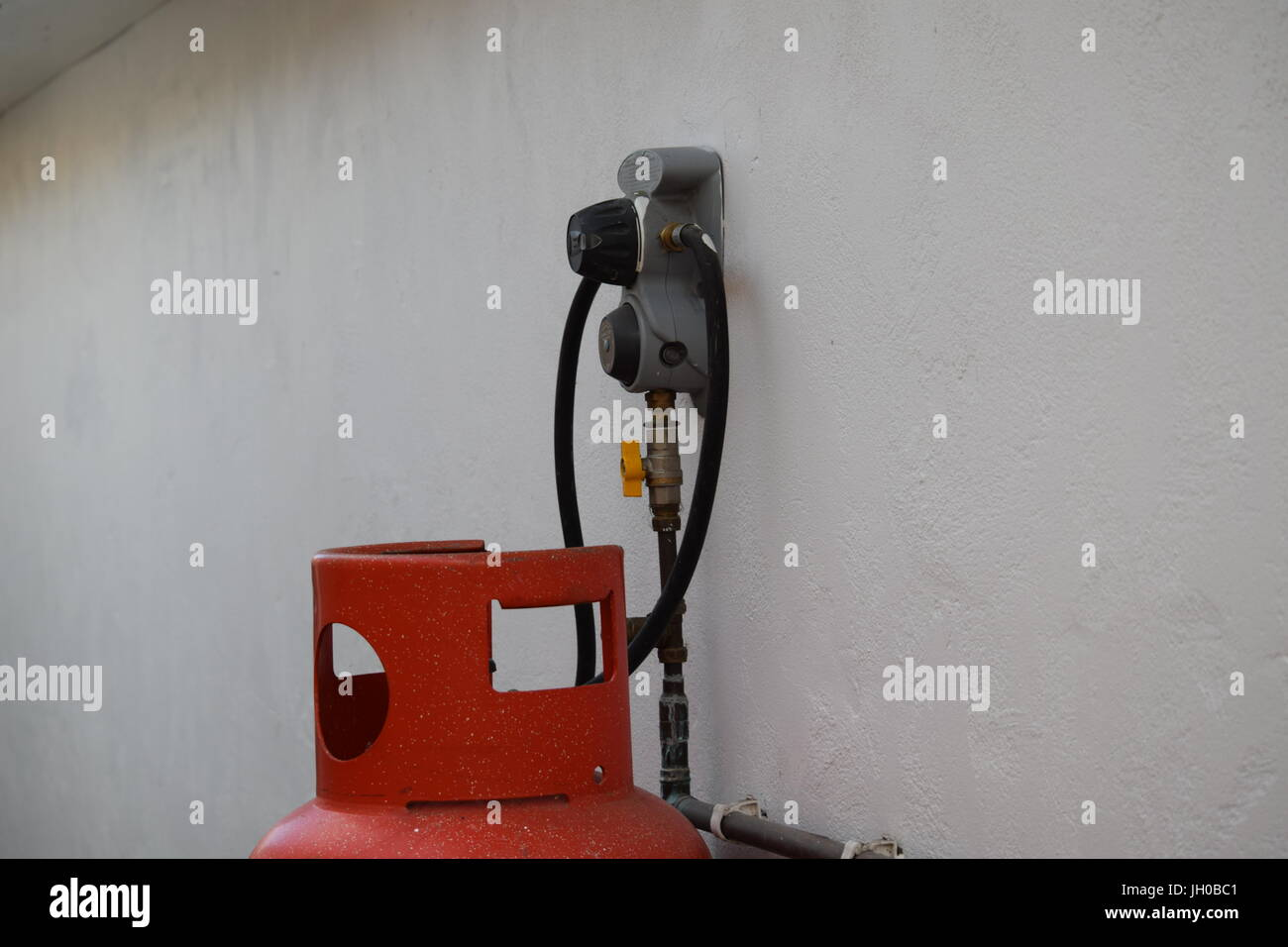 Gas regulator - Stock Image