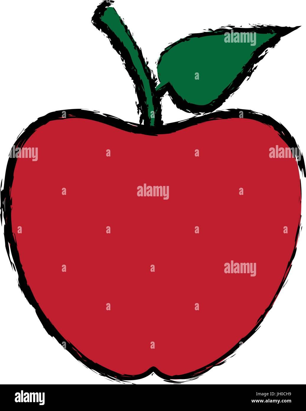 Back To School Apple Symbol Icon Stock Vector Art Illustration