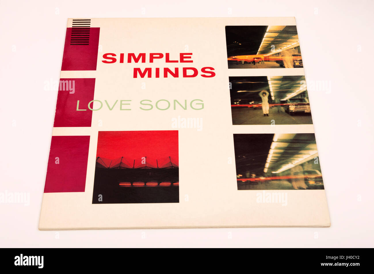 Simple Minds Love Song 12 inch vinyl single - Stock Image
