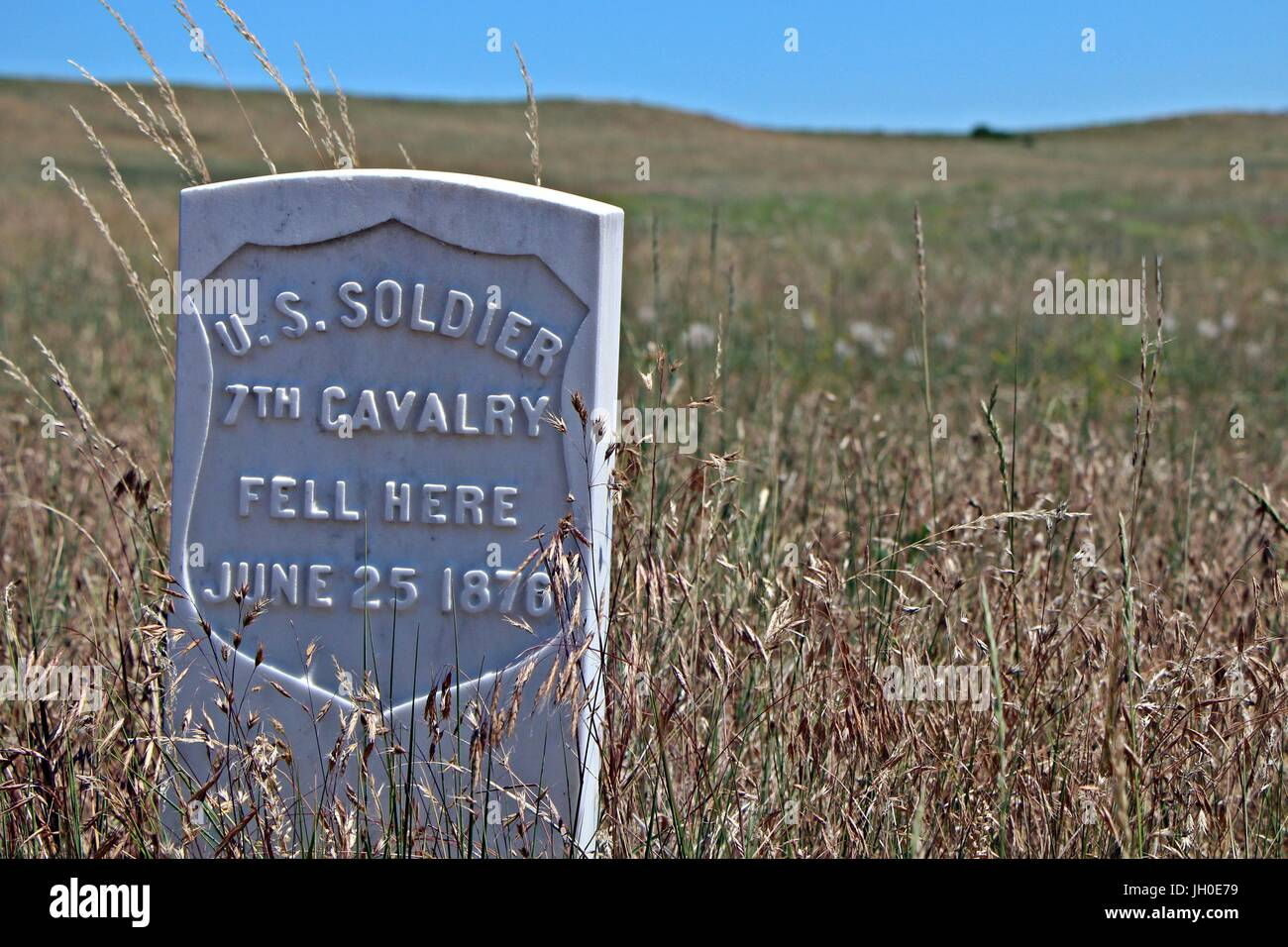 US Army 7th Cavalry burial site Stock Photo